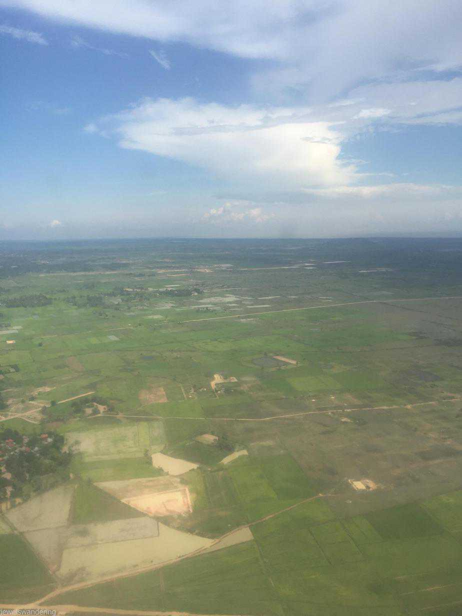 Flying into Siem Reap