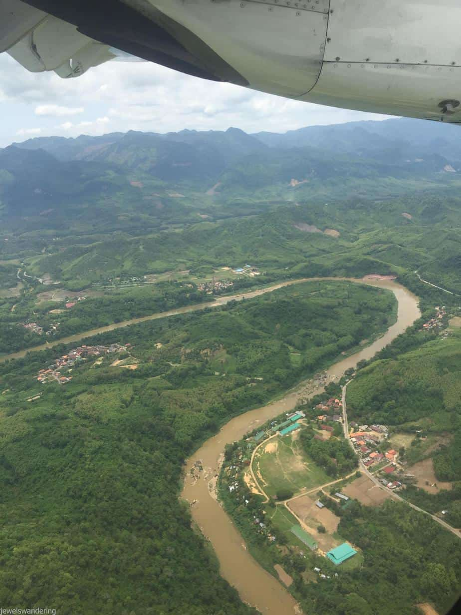 Flying into Luang Prabang