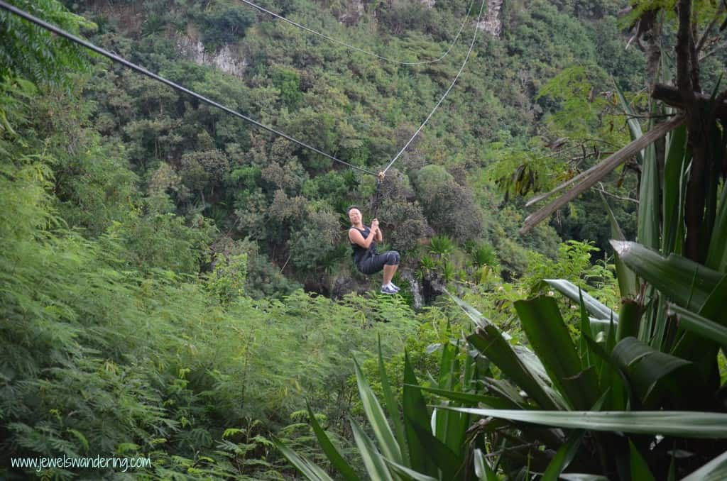 Mauritius, Casela, Zip Lining