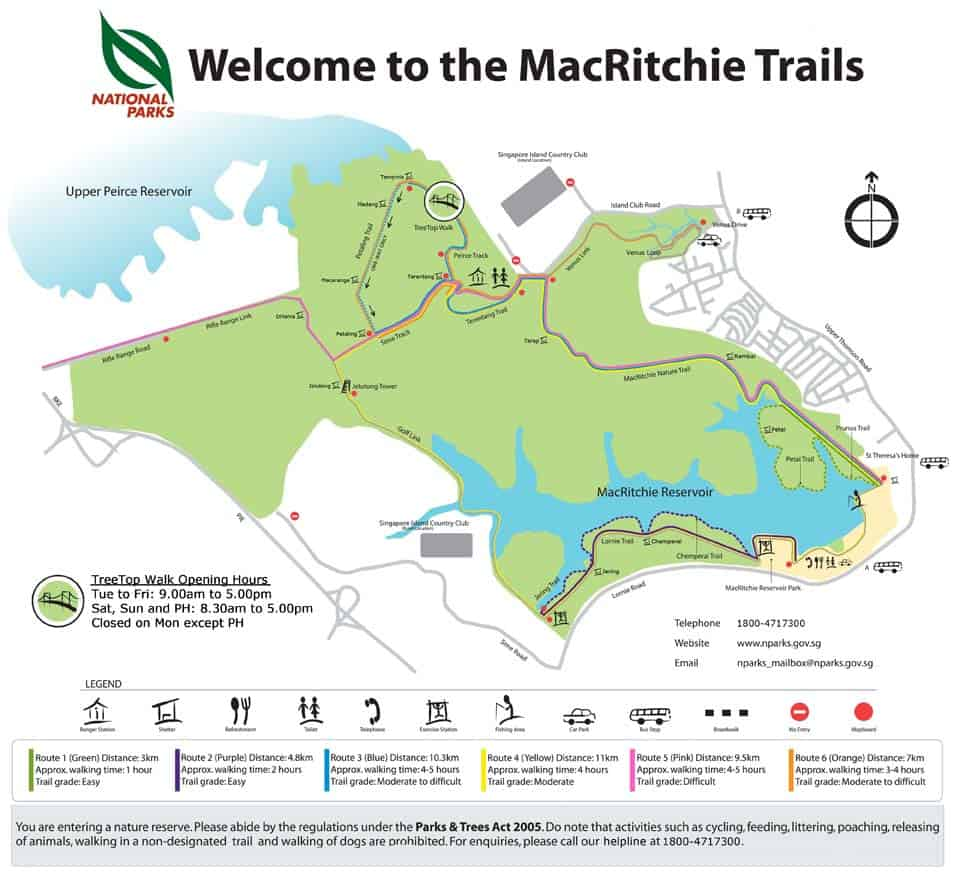Macritchie Map