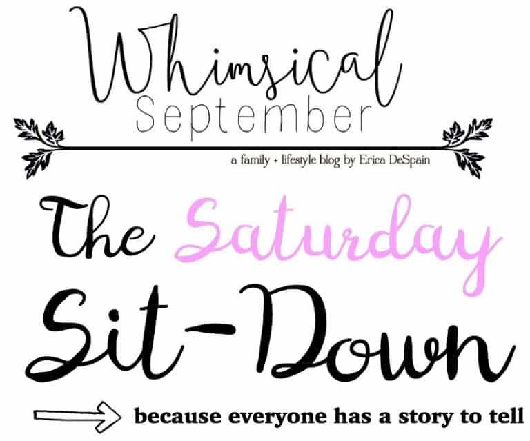 Saturday Sit Down