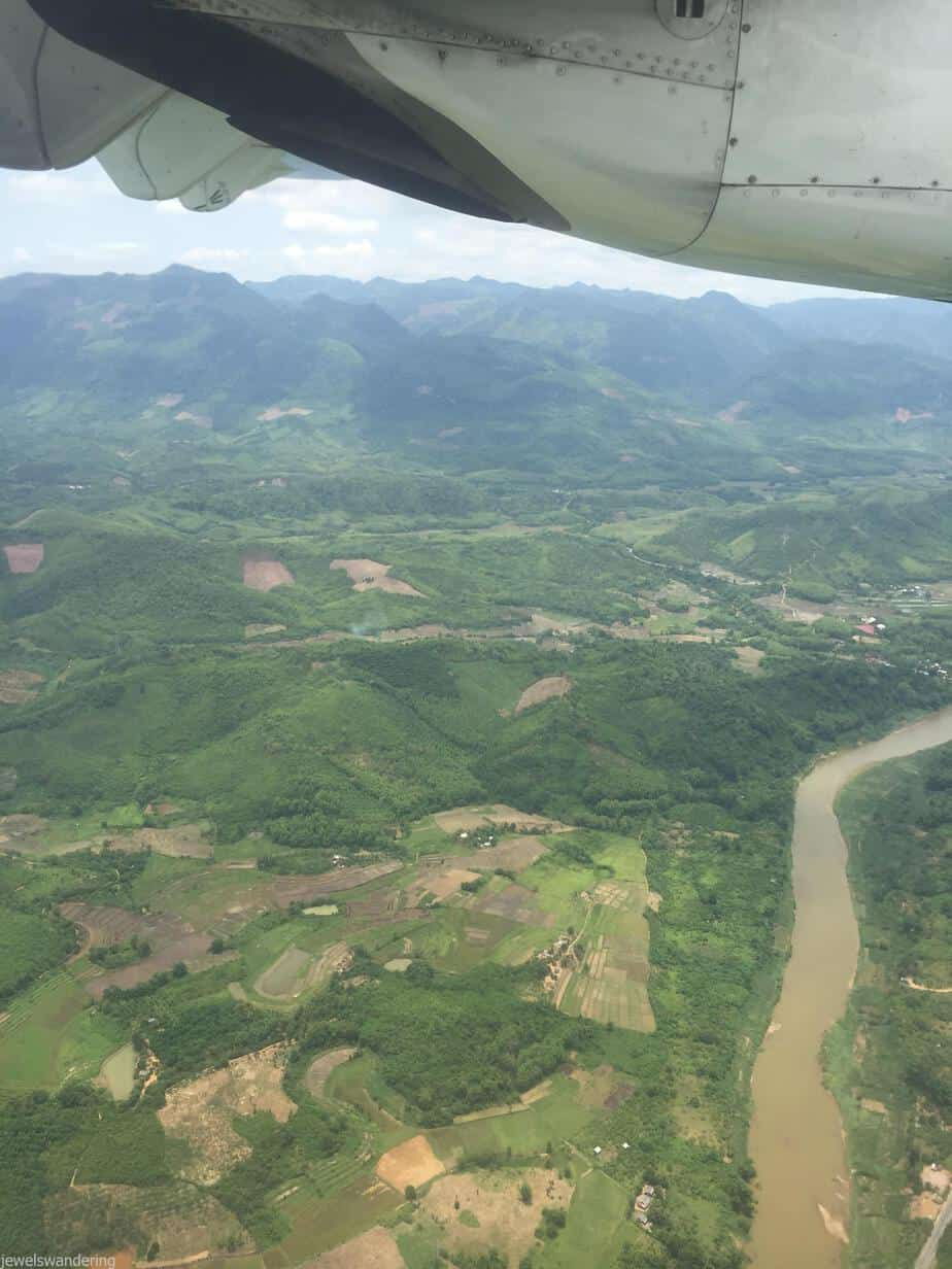 Flying into Luang Prabang