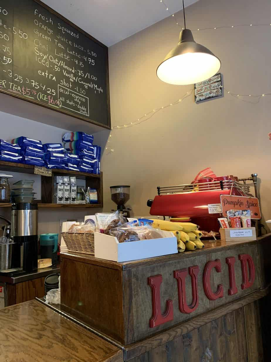 Coffee Counter of Lucid Cafe