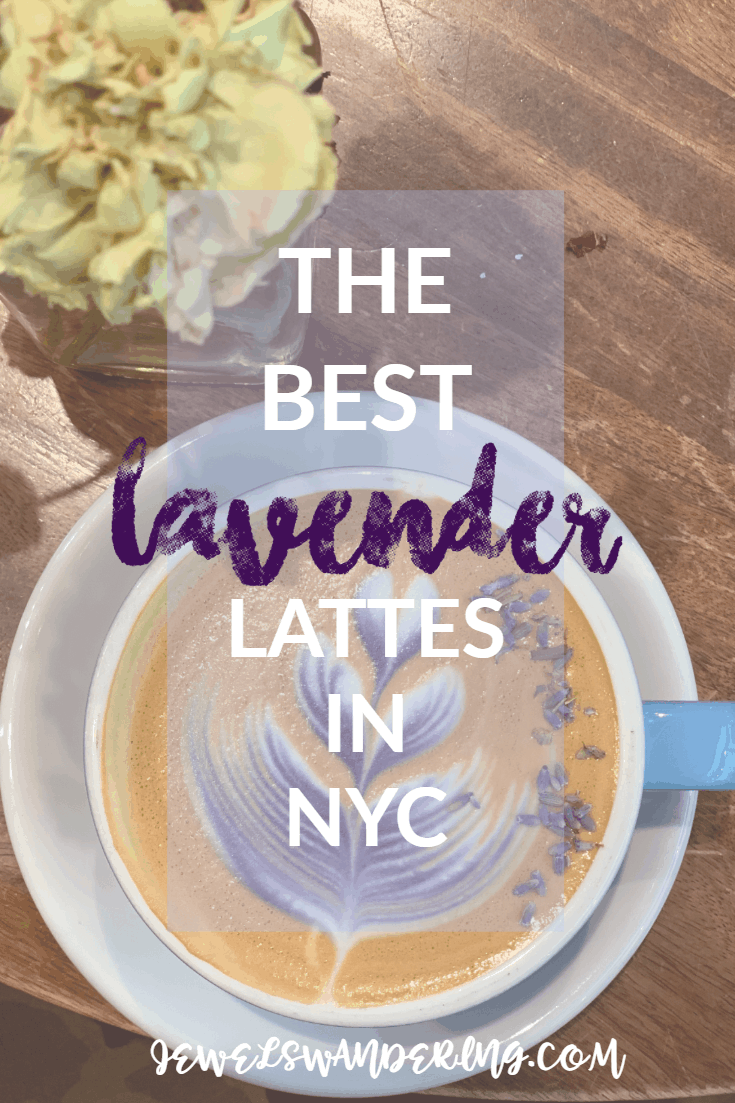 Latte art in lavender