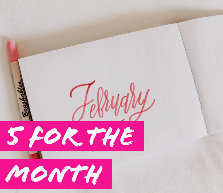 Notebook with February on the cover
