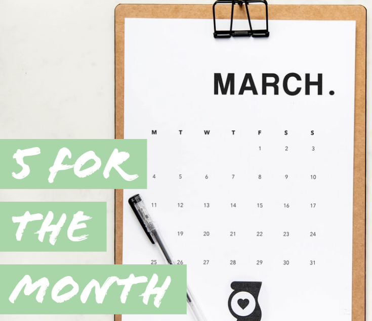 March calendar on a clipboard