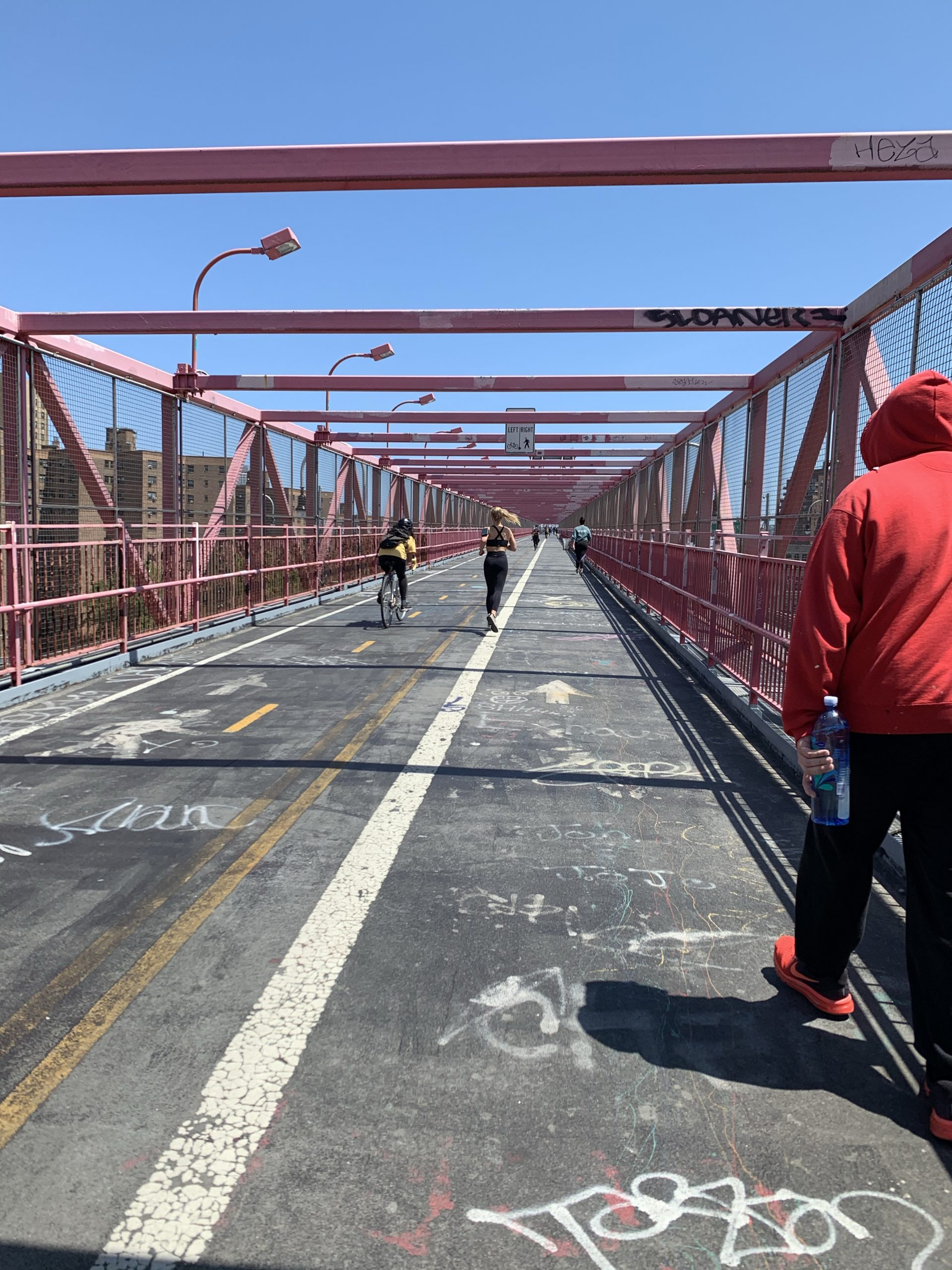 Walking portion of the Williamsburg Bridge